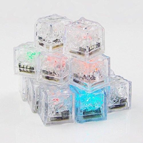 is Eiswürfel Wasser Tauchfähig bunt Liquid Sensor LED Licht für Wein zu trinken Hochzeit Party Bar Weihnachten Dekoration (Glow Cube)