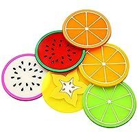 Daliuing Prácticos de costa coloridos de la forma de la fruta de la jalea 6 unidades Posavasos de fieltro para mesa cocina Salón y Bar como posavasos Posavasos para cristal y vasos – caliente Posavasos