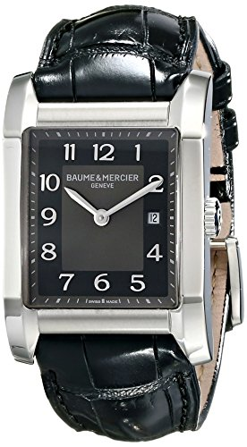 baume-et-mercier-hampton-womens-27mm-black-leather-sapphire-glass-watch-10019