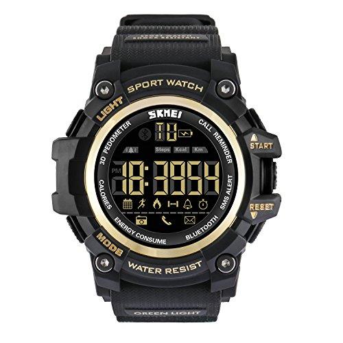 Vemupohal Reloj Inteligente LED Digital Para Hombre SmartWatch 50M Res