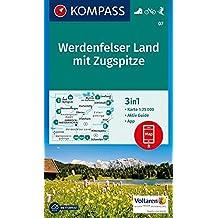 Werdenfelser Land mit Zugspitze: 3in1 Wanderkarte 1:25000 mt Aktiv Guide inklusive Karte zur offline Verwendung in der KOMPASS-App. Fahrradfahren. Langlaufen. (KOMPASS-Wanderkarten, Band 7)