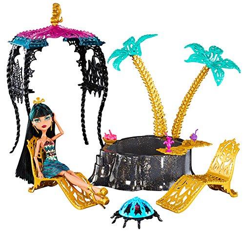 Mattel Monster High Y7716 -  13 Wünsche Cleo und Wüstenoase, Zubehör inklusive 1 Puppe