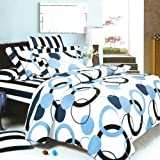 Blancho Bedding - [Artistic Blue] 100% Cotton 2PC Mini Comforter Cover/Duvet Cover Set (UK Single Size)/ (US Twin Size)