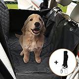 Burrby Hund Auto Sitzbezug Verstellbar Haustier Hund Auto Sicherheitsgurt, Wasserdicht, Waschbar, Rutschfest, Passend für Alle Cars Trucks SUV, Schwarz