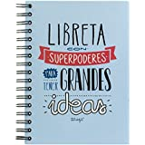 """Mr. Wonderful WOM00168 - Libreta de color con """"Superpoderes para tener Grandes Ideas"""""""