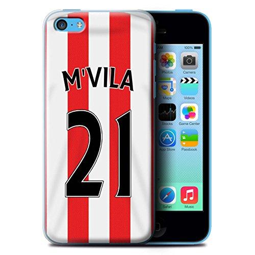 Offiziell Sunderland AFC Hülle / Case für Apple iPhone 5C / Fußballer Muster / SAFC Trikot Home 15/16 Kollektion M'Vila