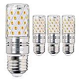 Hzsane E27 LED Mais Leuchtmittel 12W, Entspricht 100W Glühbirnen, 3000K Warm Weiß Kandelaber E27 Leuchtmittel, 1200lm, LED Birne, Edison Schraube LED Leuchtmittel, 4-Pack