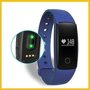 Fitness Armband ,Fitness-Tracker Activity Tracker Sport-Armband mit Schrittzähler,Herzfrequenz-Monitor, Schlafanalyse Smartband (Blau)