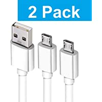 SYL PLUS Fast Charging Micro USB Data Cable for All Android Phones/Smartphones, High Speed 2.0 Sync, 1 m - Set of 2 (White)