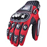 MADBIKE dedo completo guantes de moto motocicleta para verano (red-size XL)