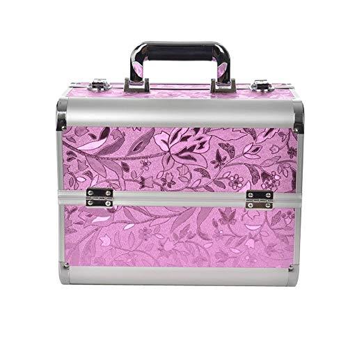 AUFUN Kosmetikkoffer mit 2 Klappschlössern Groß Schminkkoffer für Gepäck XL 320 * 210 * 260mm...