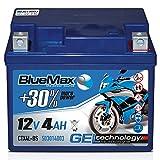 Motorradbatterie 12 V/4 Ah - 50 A/EN CTX4L-BS GEL 50314 BlueMax YTX4L-BS
