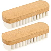 Brosse dédiée aux produits en daim Brosse résistante à l'abrasion Brosse crêpe Brosse en daim Base en bois Baskets…
