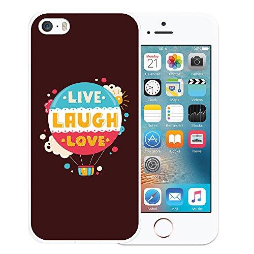 iPhone SE iPhone 5 5S Hülle, WoowCase Handyhülle Silikon für [ iPhone SE iPhone 5 5S ] Rock & Roll Gitarre Handytasche Handy Cover Case Schutzhülle Flexible TPU - Transparent Housse Gel iPhone SE iPhone 5 5S Transparent D0284