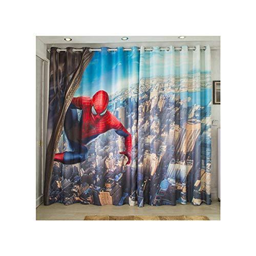 llkjd Nappe de Chambre garçon Chambre Rideau Punch Rideau Spiderman Enfants - W46 * L54