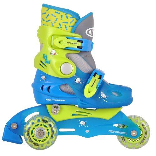 Inline Skates TriGo grün Gr - XS(26-29) und Räderposition verstellbar