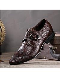 FLYSXP Zapatos De Cuero Ocasionales De Los Hombres Una Pierna Patas De Los Hombres En Punta