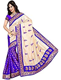 Manorath Women's Cotton Silk Saree With Blouse Piece (Hathi Green1, Multicolor, Free Size)