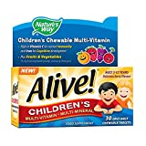 Alive! integratore di vitamine e minerali per bambini 30 compresse masticabili quotidiane - Natures Way - amazon.it