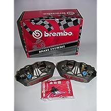 Brembo - Pinzas de freno monobloque con anclaje radial M4 de 108 mm de diámetro para