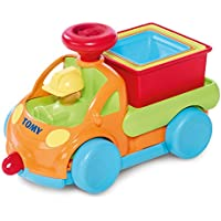 """TOMY Babyspielzeug """"Stapel Auto"""" mehrfarbig - hochwertiges Kleinkindspielzeug zum Lernen - vereint Spielzeugauto & Stapelspielzeug - ab 10 Monate"""