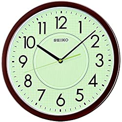 Seiko Wall Clock (36.1 cm x 36.1 cm x 3.9 cm, Brown, QXA629BT)