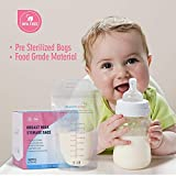 Breast Milk Storage Bags 200ml Pre Sterilized Breastmilk Pouches 100 Counts Leakproof Breast Milk Saver Bags BPA Free Self Standing Milk Freezer Containers by Momcozy