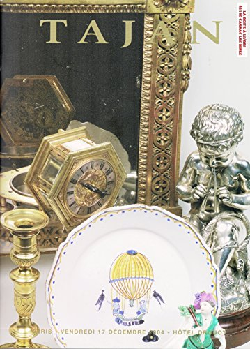 Catalogue Tajan, Céramique, Cadres, Meubles et Objets d'Art des XVIIIeme et XIXeme siècles, Antiquités, Brocante par Tajan, commissaire priseur, Paris