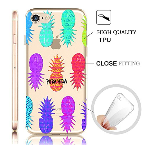 iPhone 6S Plus Case iPhone 6 Plus / 6S Plus 5.5 Pouces Back Cover,MingKun TPU Flex Cas pour iPhone 6S Plus TPU Silicone Coque Shock-Absorption Bumper et Anti-Scratch Effacer Skin ProtectionCase Cover  ananas Cartoon-4