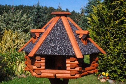 XXL Luxus Vogelhaus Futterhaus Vogelhäuser 70×45 cm Nr13s Dach mit Strukturputz - 2