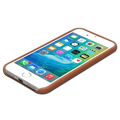 iPhone 8 Plus Cover / iPhone 7 Plus Cover in Pelle Nera - KANVASA Skin Case Custodia Ultrasottile per Apple iPhone 8 Plus & 7 Plus (5,5) - Borsetta di Lusso in Vera Pelle - Cuoio Premium Marrone iPhone 8 & 7