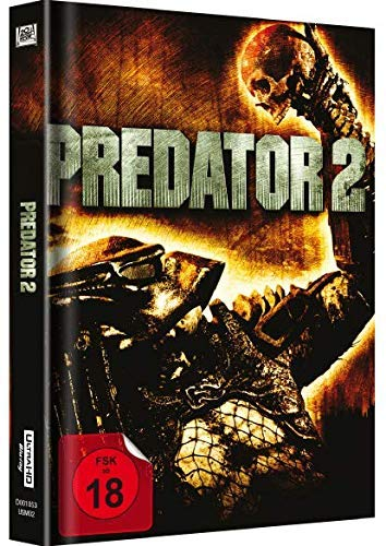 Predator 2 - Limited Unrated MediaBook Exklusiv Cover A [UHD 4K Ultra HD Blu-ray + Blu-ray] 2-Disc Edition