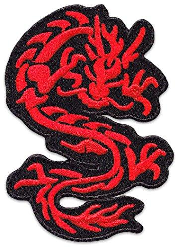 Nordischer Drache Aufnäher Aufbügler Patch Wikinger Tattoo Kelten Schutzsymbole Druiden (Klein )