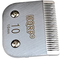 HQRP Cuchilla de cortapelos de animales tamaño 10 para Oster A6 A-6, Performax, Protege sola velocidad 78704-020 Pet Grooming + HQRP Posavasos