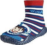 Playshoes Unisex-Kinder Aqua Socken, Badesocken Taucher Dusch-& Badeschuhe, Rot/Blau/Weiß, 28/29 EU