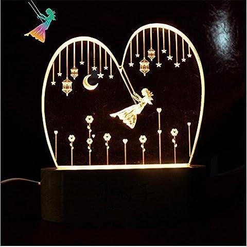 Camera da letto di nozze ha portato fumetto luci/creativo swing USB-alimentato luce notturna , 1