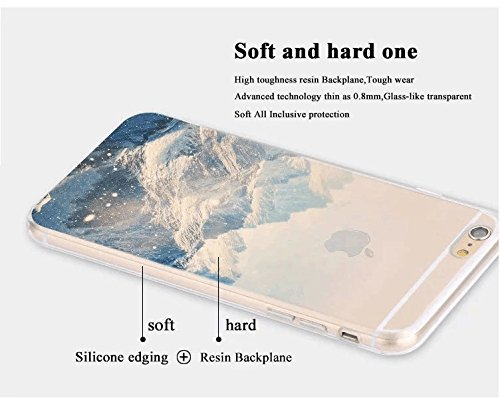 iPhone 7 Hülle, iPhone 8 Handyhülle, Sunroyal Silikon Case Ultra Dünn Kreativ Mountain Berg Muster Design Durchsichtig Gel Schutzhülle TPU Zurück Rückseite Bumper für Apple iPhone 7 / iPhone 8 4,7 Zol Pattern 15