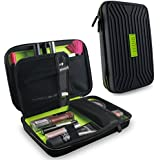 Tizum EVA Cosmetic Organizer Toiletry Travel Kit Travel Organizer (Black)