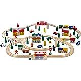 Holzeisenbahn mit 100 Teilen