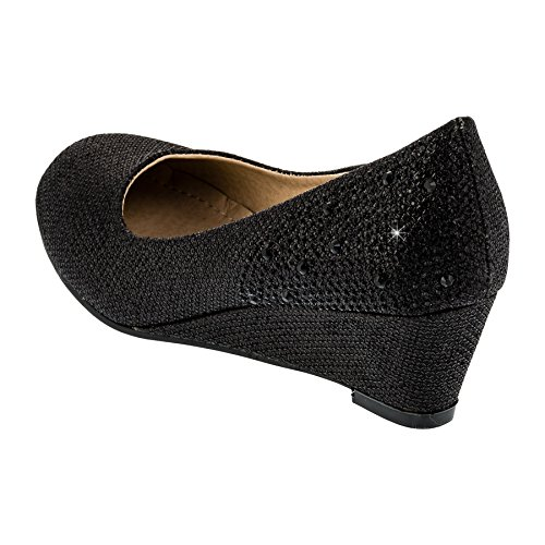 Mikelo Shoes, Scarpe col tacco bambine #144sw Schwarz