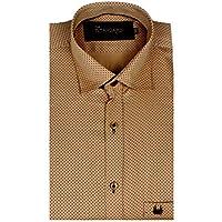 The Standard Men's Casual Wear, Dotted Mustard Shirt (SKU0002_40)