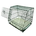 Ellie-Bo Deluxe Sloping Puppy Cage Folding Dog Crate with Non-Chew Metal Tray Fleece and Slanted Front for Car 8