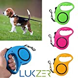 #10: LUKZER 16.5 ft (198 inch/ 5 M) long flexible Retractable Dog leash with maximum tension upto 15 kgs for all pet dogs (Random Color)