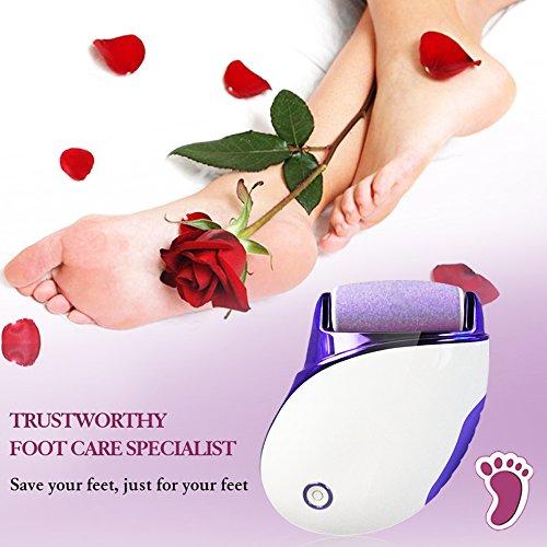 Qjhp pietra pomice cura dei piedi elettrico ricarica usb multifunzione remover pelle dura ruvida morta sui piedi include 2 minerale rulli di pietra pomice