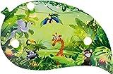 Elobra Kinderlampe Deckenleuchte Blatt Wildnis Dschungel mit LED Nachtlicht, Kinderzimmer, Holz, grün, A++