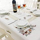 XQY Tisch-Tischdecken, Home Tischdecken, runder Tisch Quadratische Tischdecken, rechteckige/Runde PVC-Tischdecken Wasserdichte Anti-Öl-Tischsets PVC-Couchtisch Tischdecke Mode Pastoraltischdecke fü