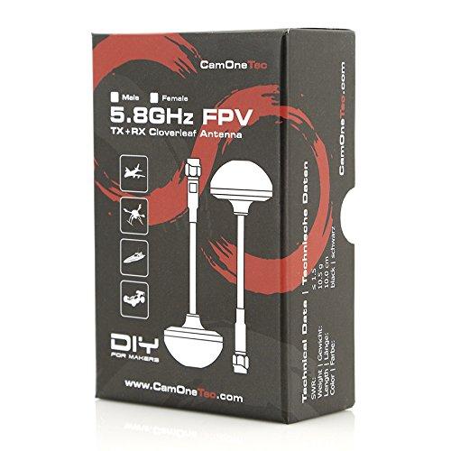CamOneTec - Phoenix CPL Antennen Set | 5,8GHz Black | (female/weiblich) (PNX58-F) - 3