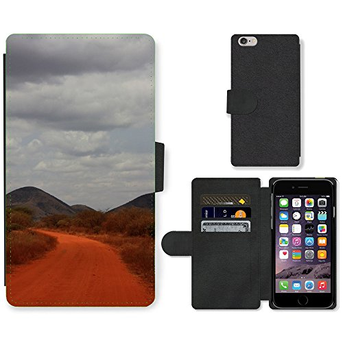 Just Mobile pour Hot Style Téléphone portable étui portefeuille en cuir PU avec fente pour carte//m00138282Safari Road poussière Orange Sable Bleu//Apple iPhone 6Plus 14cm