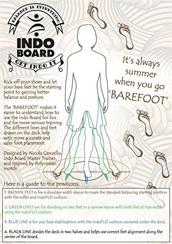 Indo Board tabla de equilibrio Original paquete de formación, Barefoot