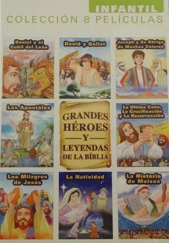 Grandes Heroes Y Leyendas De La Biblia DVD Infantil Coleccion 8 Peliculas 2-disc